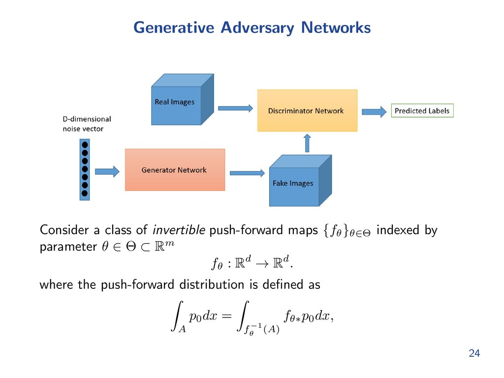 Generative Adversary Networks Consider a class ...
