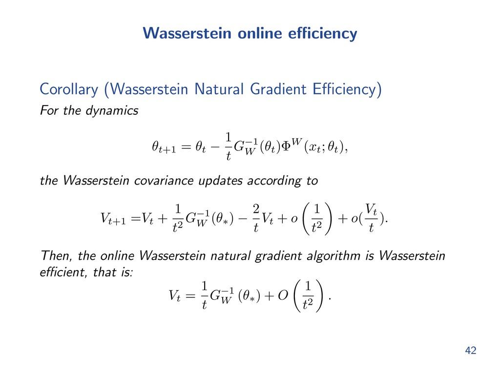 Wasserstein online e ciency Corollary (Wasserst...