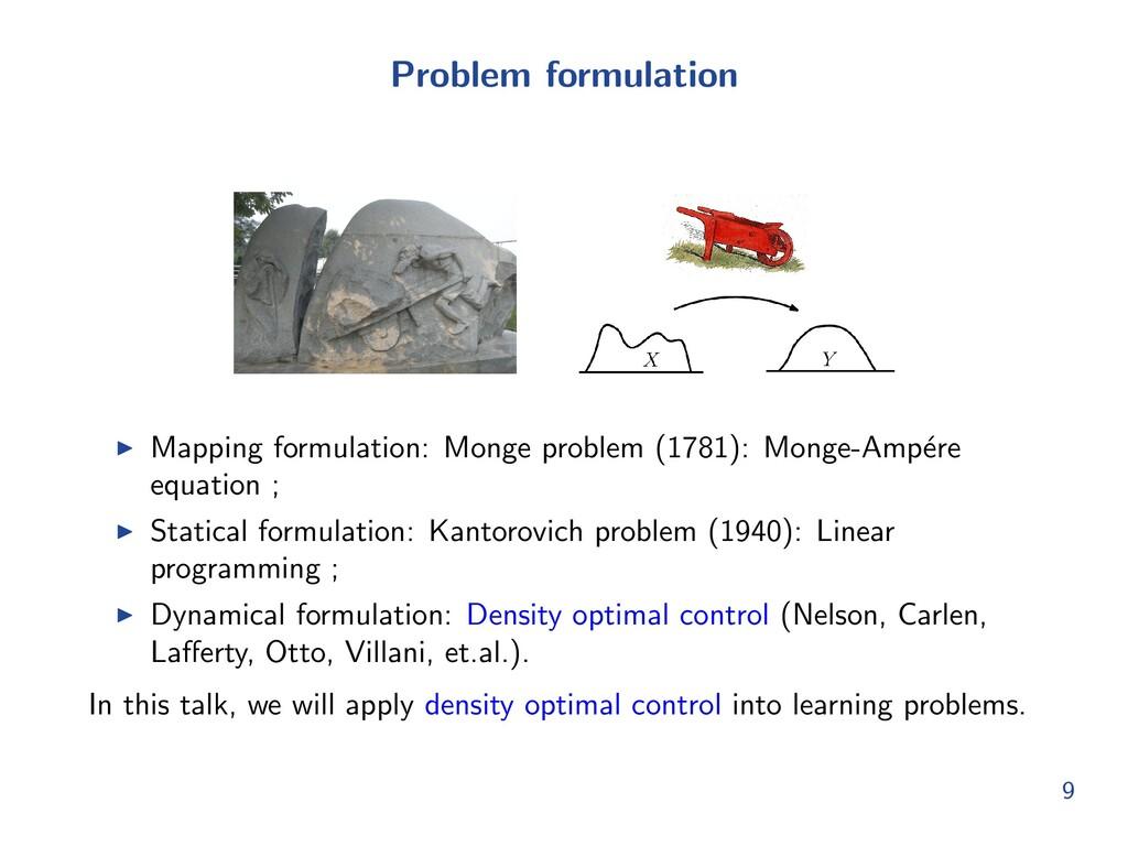 Problem formulation I Mapping formulation: Mong...