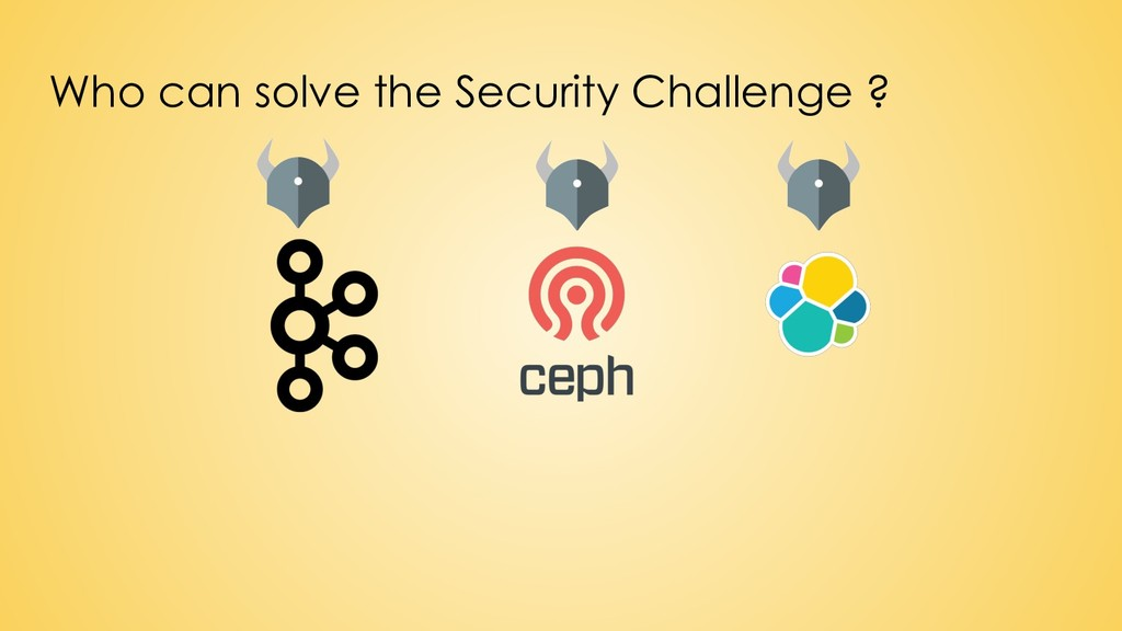 Who can solve the Security Challenge ?