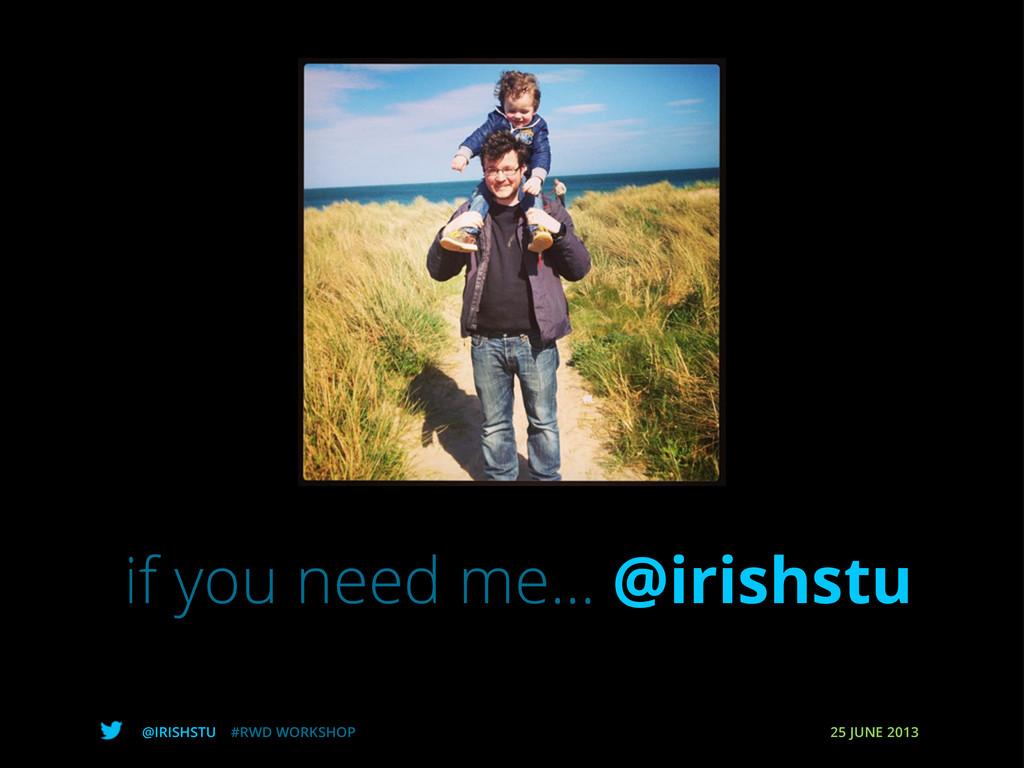 @IRISHSTU #RWD WORKSHOP 25 JUNE 2013 if you nee...