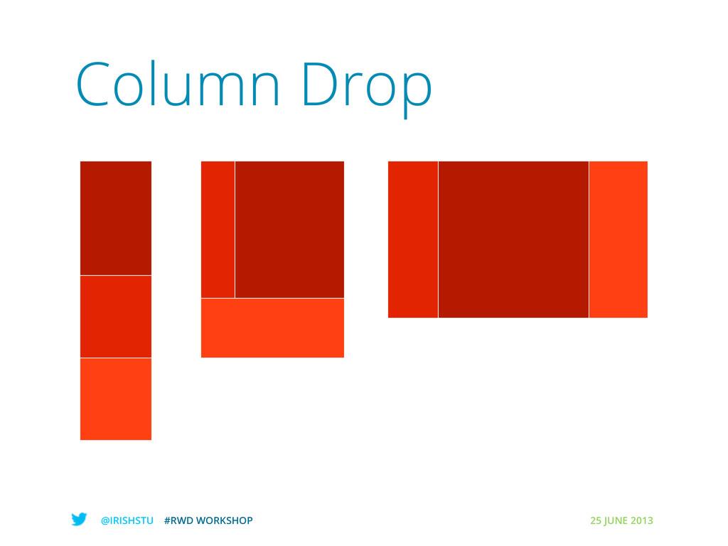@IRISHSTU #RWD WORKSHOP 25 JUNE 2013 Column Drop