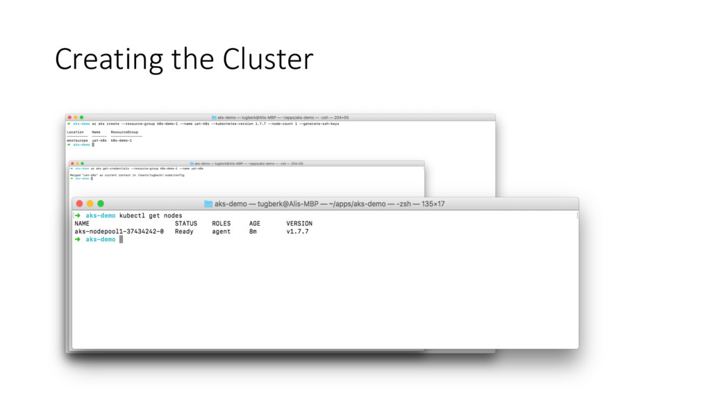 Creating the Cluster