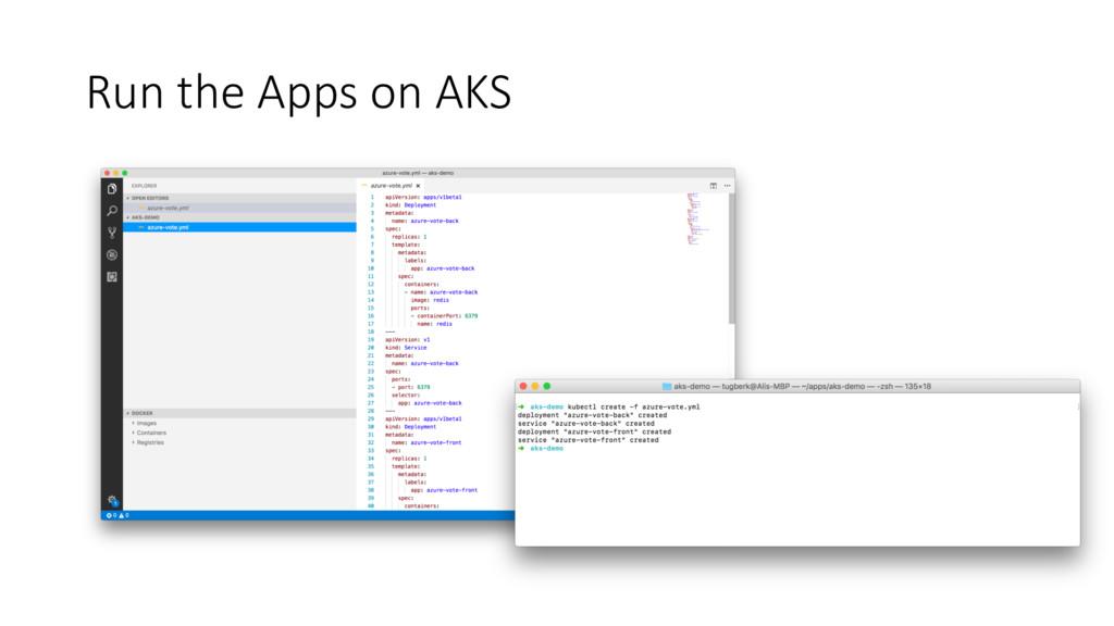 Run the Apps on AKS