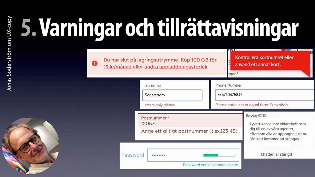 Jonas Söderström om UX-copy 5. Varningar och ti...