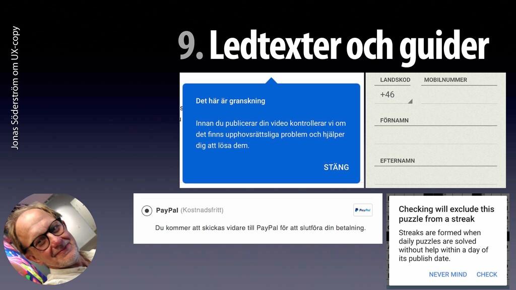 Jonas Söderström om UX-copy 9. Ledtexter och gu...