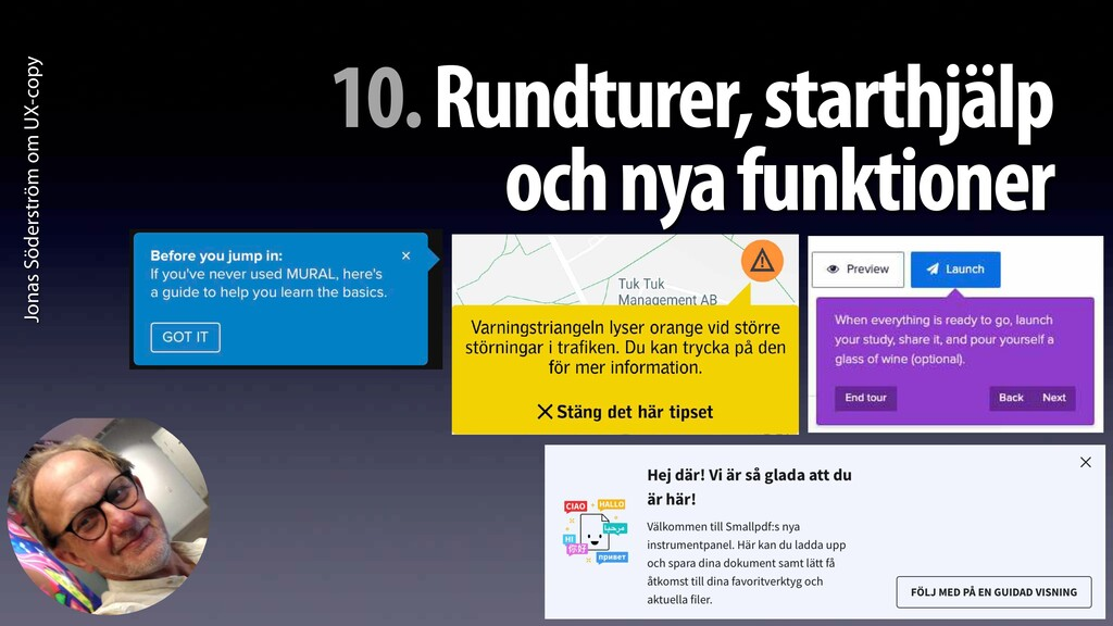 Jonas Söderström om UX-copy 10. Rundturer, star...