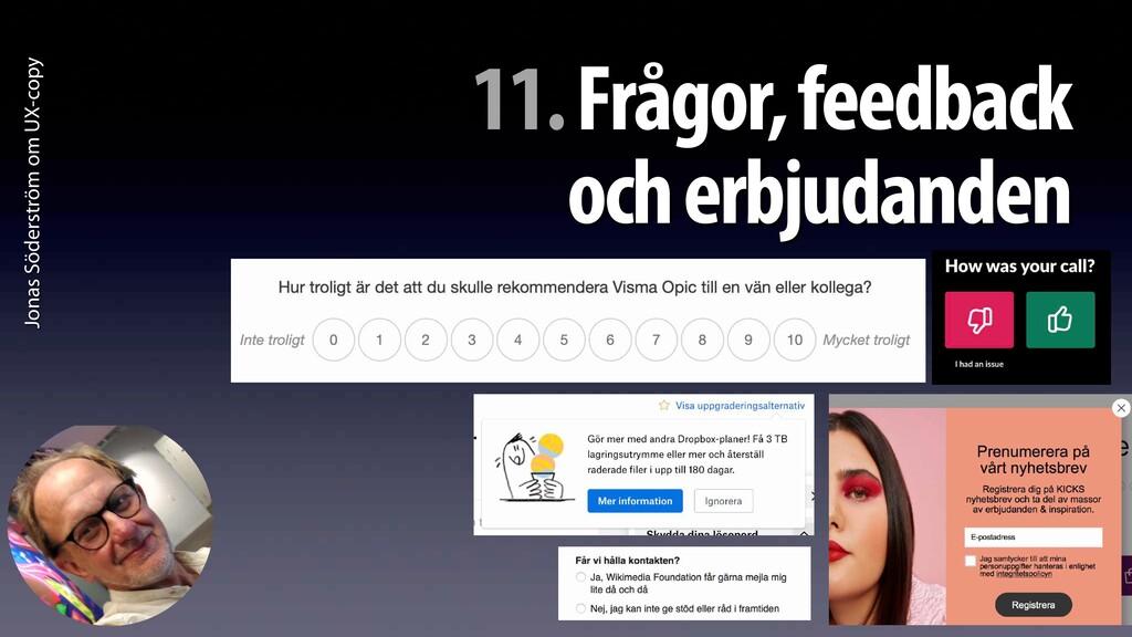 Jonas Söderström om UX-copy 11. Frågor, feedbac...