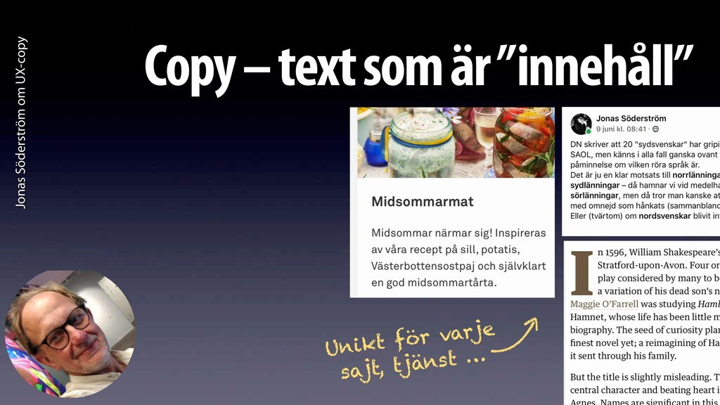 Jonas Söderström om UX-copy Copy – text som är ...