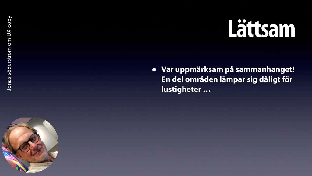 Jonas Söderström om UX-copy Lättsam • Var uppmä...