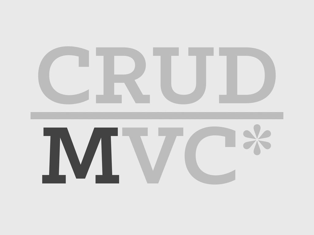 MVC* CRUD