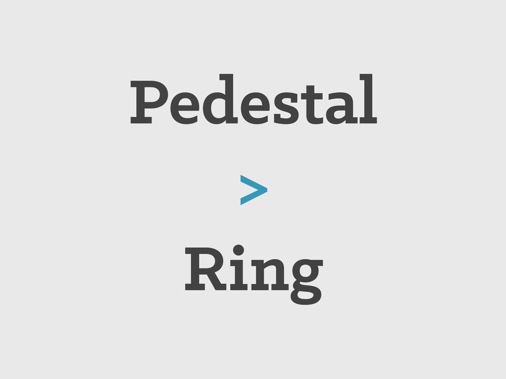 Pedestal > Ring