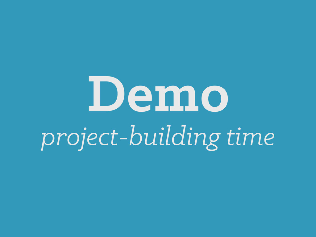 Demo project-building time