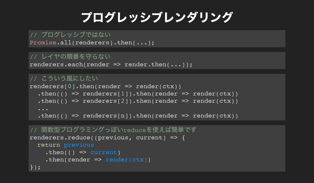 // Promise.all(renderers).then(...); // rendere...
