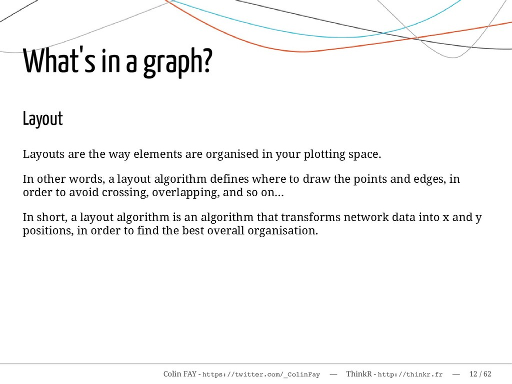 What's in a graph? Layout Layouts are the way e...