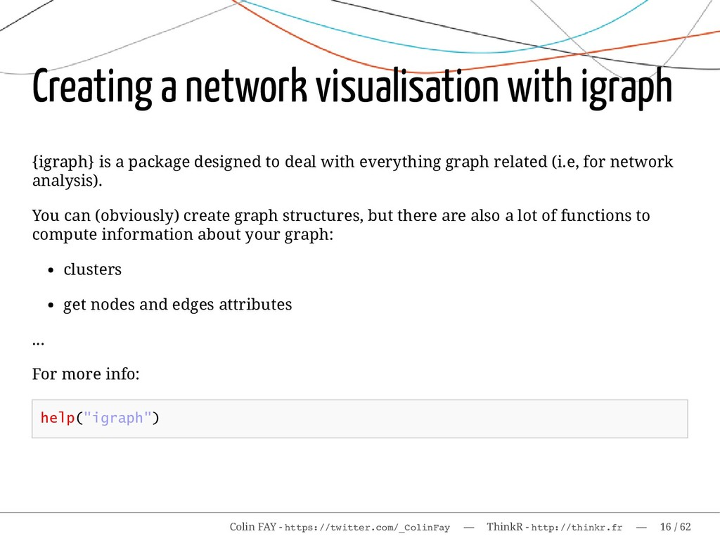 Creating a network visualisation with igraph {i...
