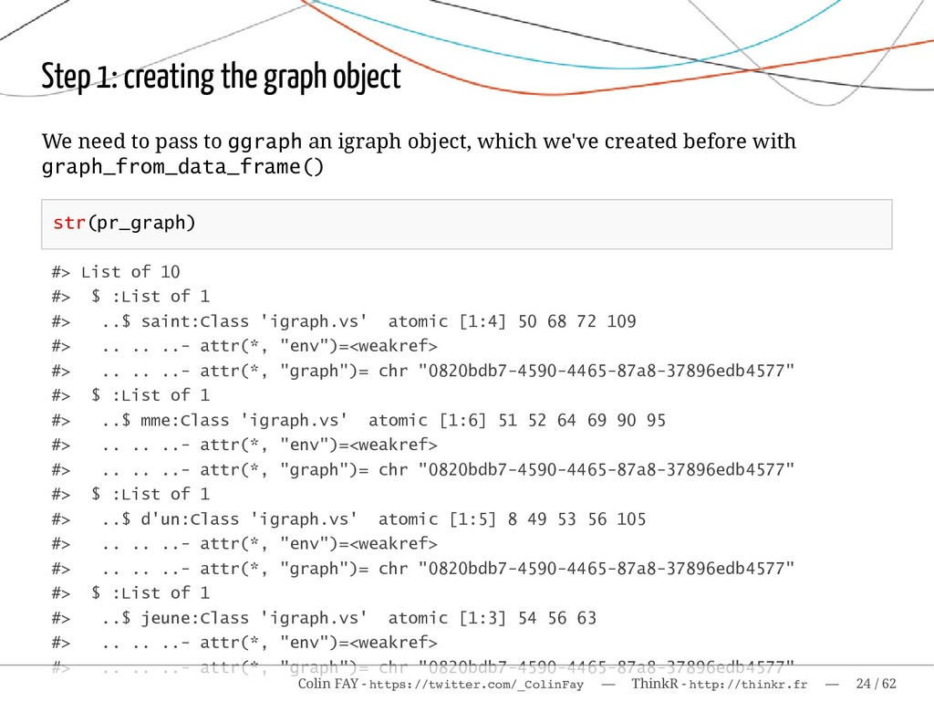 Step 1: creating the graph object We need to pa...