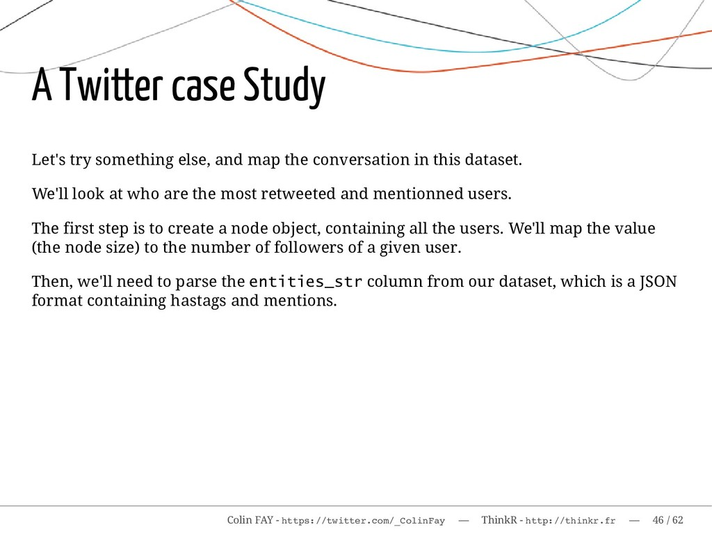 A Twitter case Study Let's try something else, ...