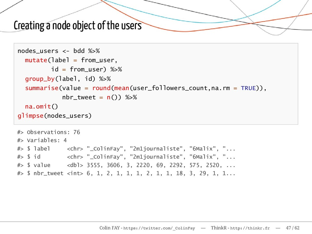Creating a node object of the users nodes_users...