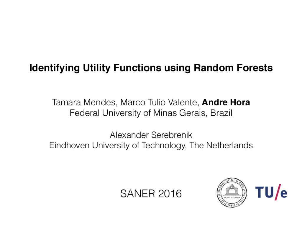 Identifying Utility Functions using Random Fore...