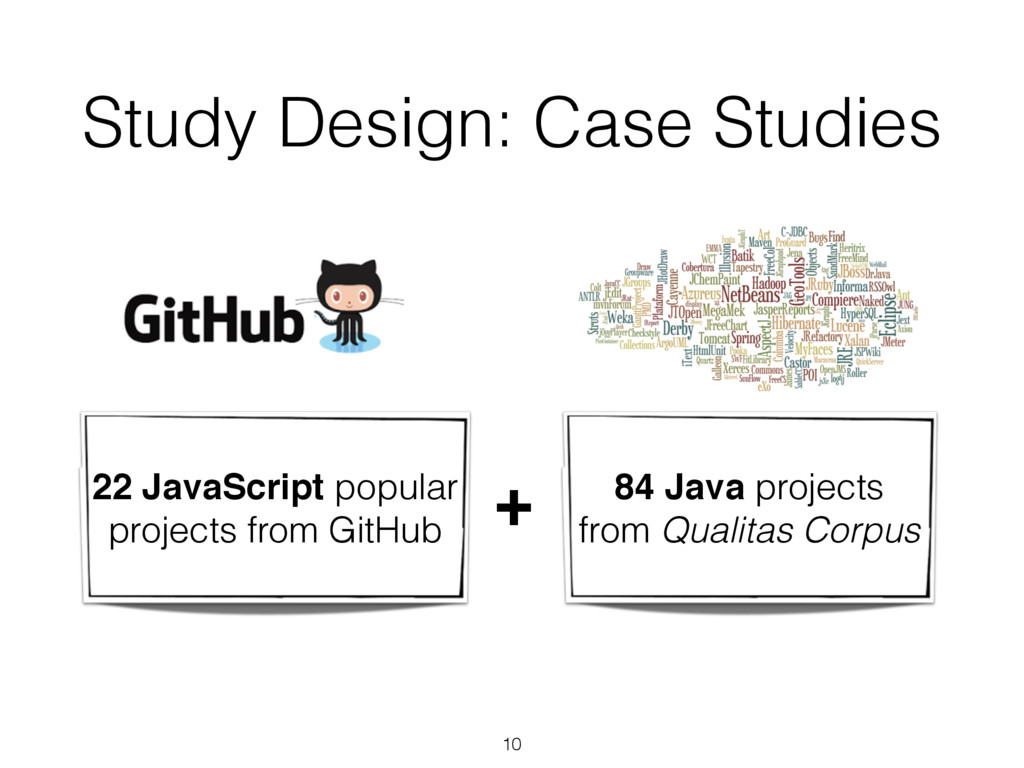 Study Design: Case Studies ! 22 JavaScript popu...