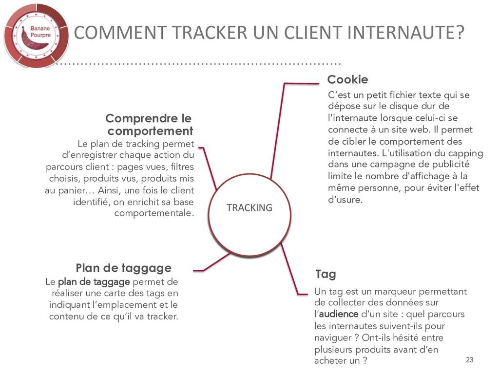 COMMENT TRACKER UN CLIENT INTERNAUTE? Cookie Un...