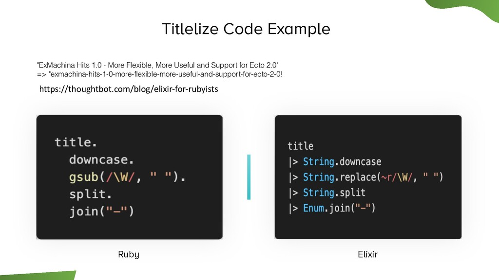 "Titlelize Code Example ""ExMachina Hits 1.0 - Mo..."