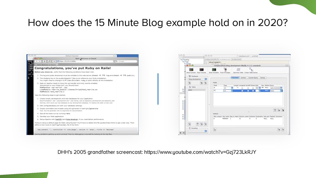 How does the 15 Minute Blog example hold on in ...