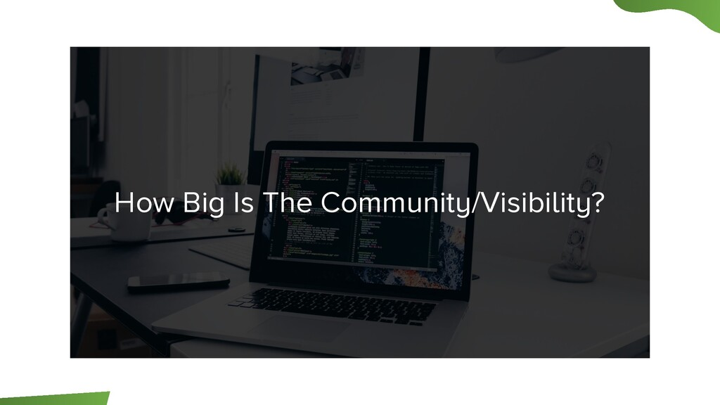 How Big Is The Community/Visibility?