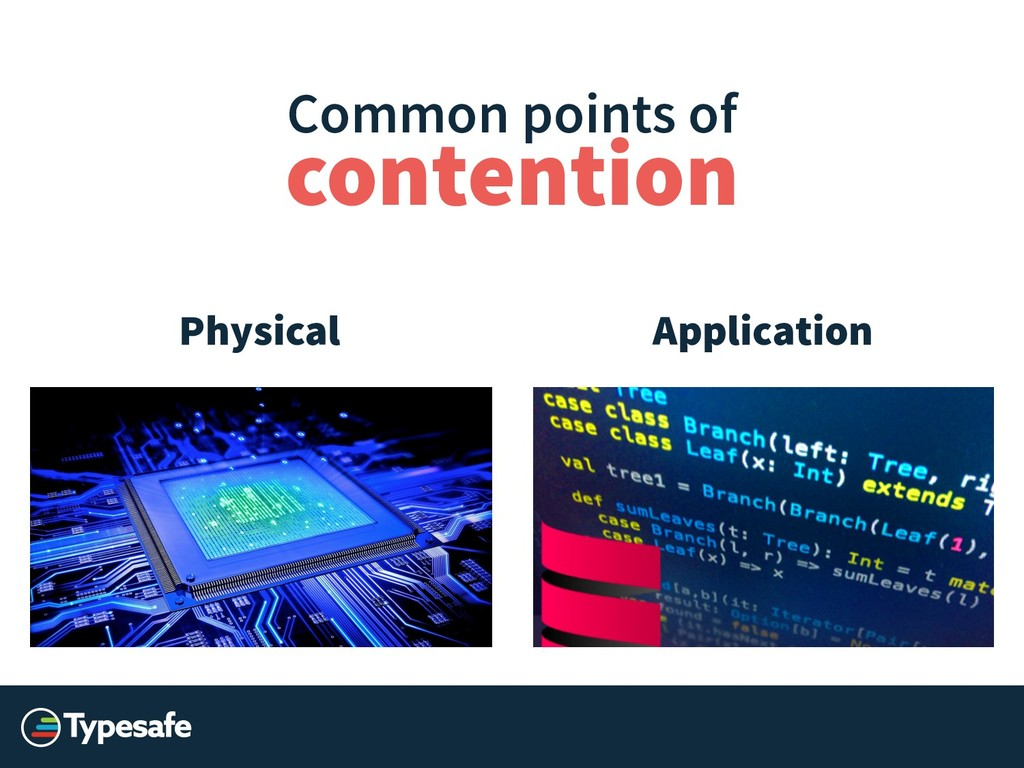 Common points of Application Physical contention