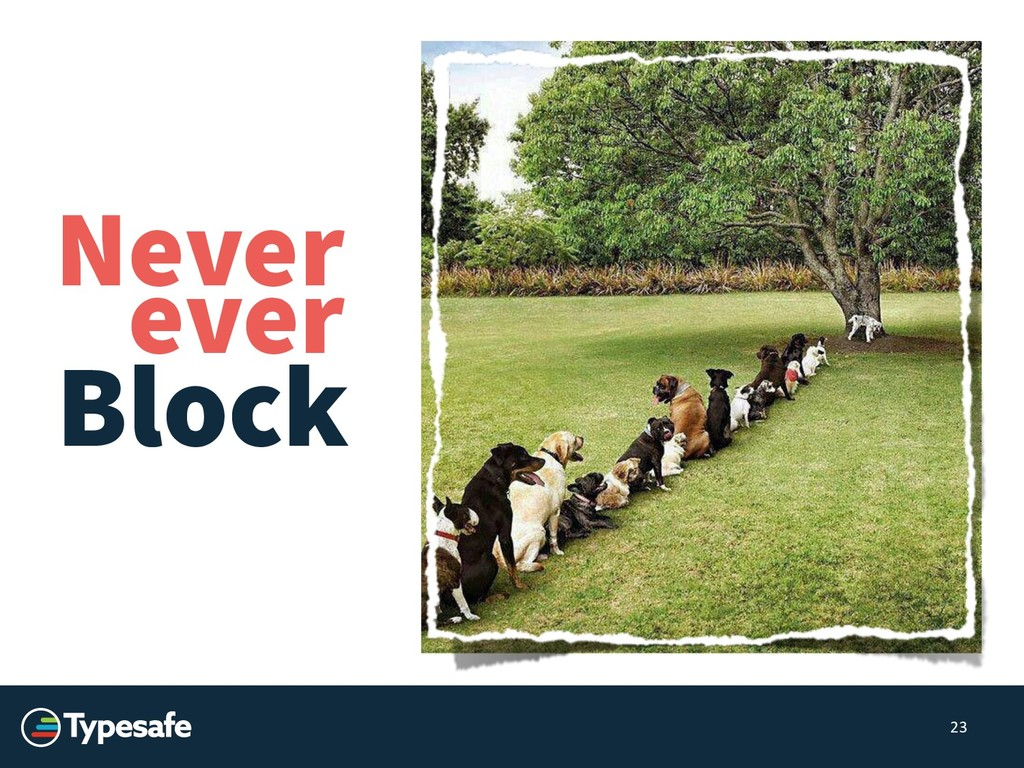 Block 23 Never ever