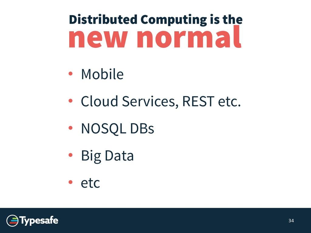 • Mobile • Cloud Services, REST etc. • NOSQL DB...