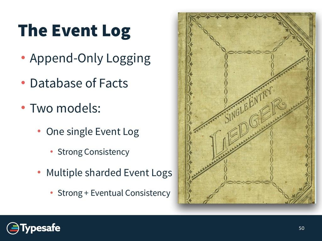 The Event Log • Append-Only Logging • Database ...