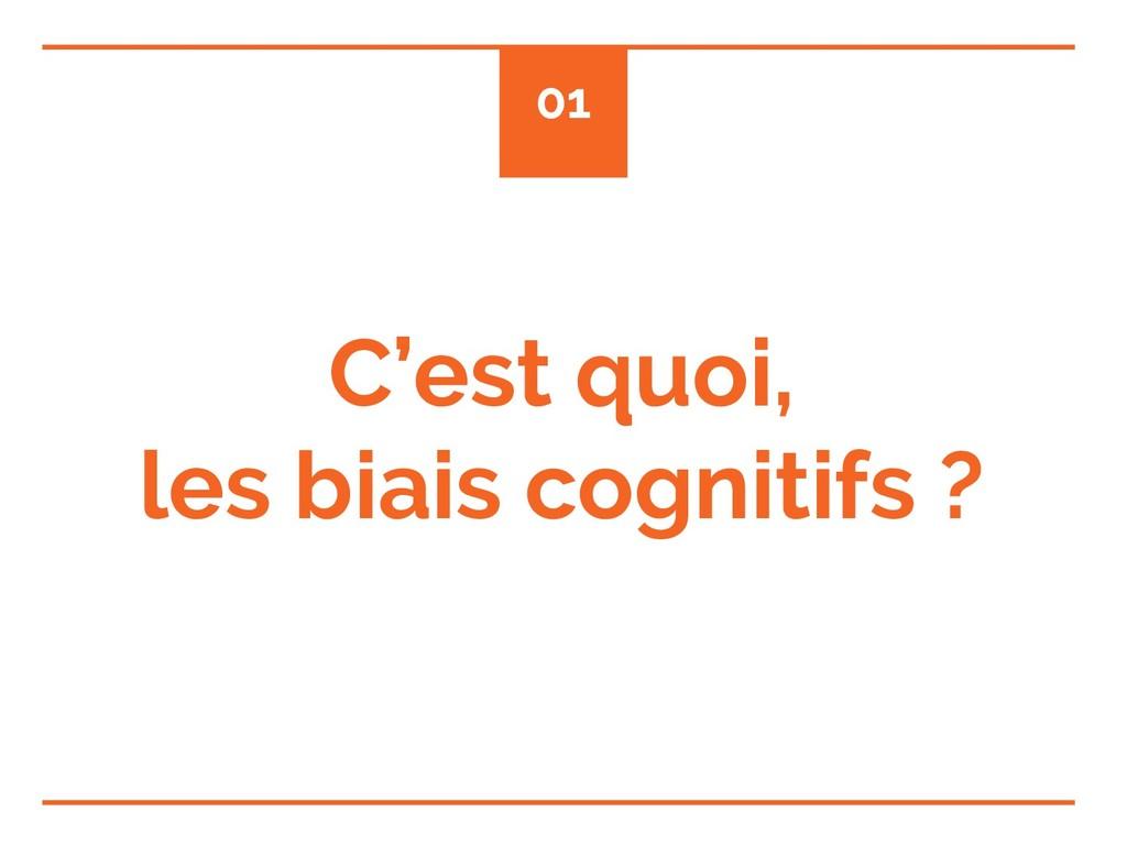 C'est quoi, les biais cognitifs ? 01