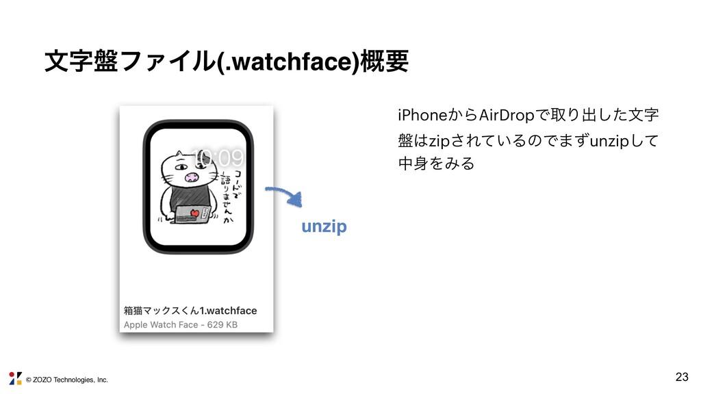 © ZOZO Technologies, Inc. 23 จ൫ϑΝΠϧ(.watchface...