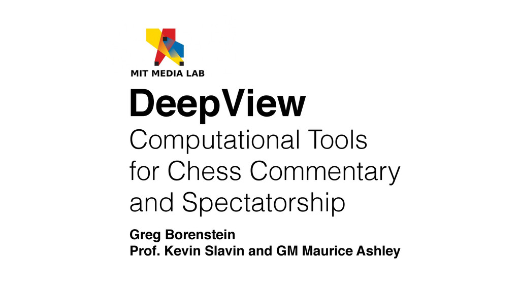 Computational Tools for Chess Commentary and Sp...
