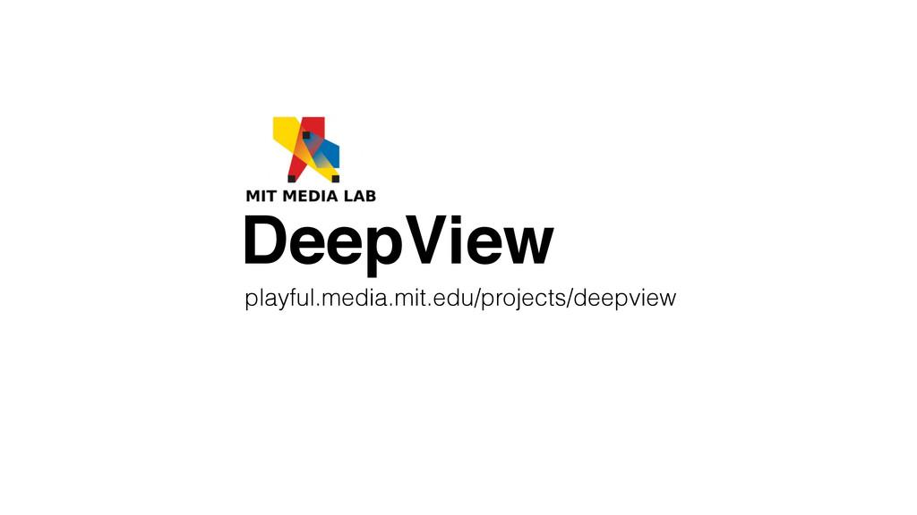 playful.media.mit.edu/projects/deepview DeepView