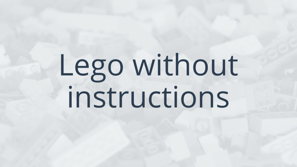 Lego without instructions