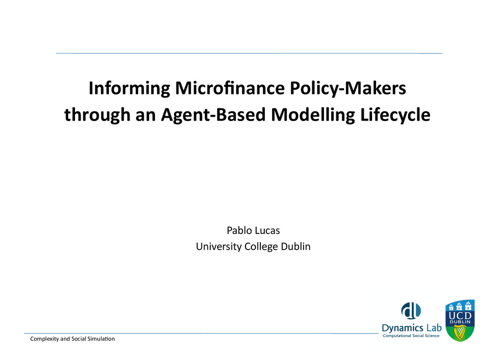 Informing Microfinance Policy-‐Makers ...