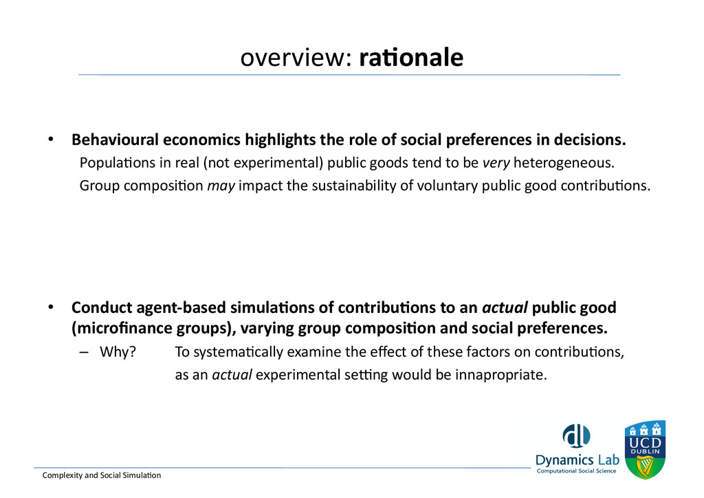 overview: ra<onale  Complexity and ...