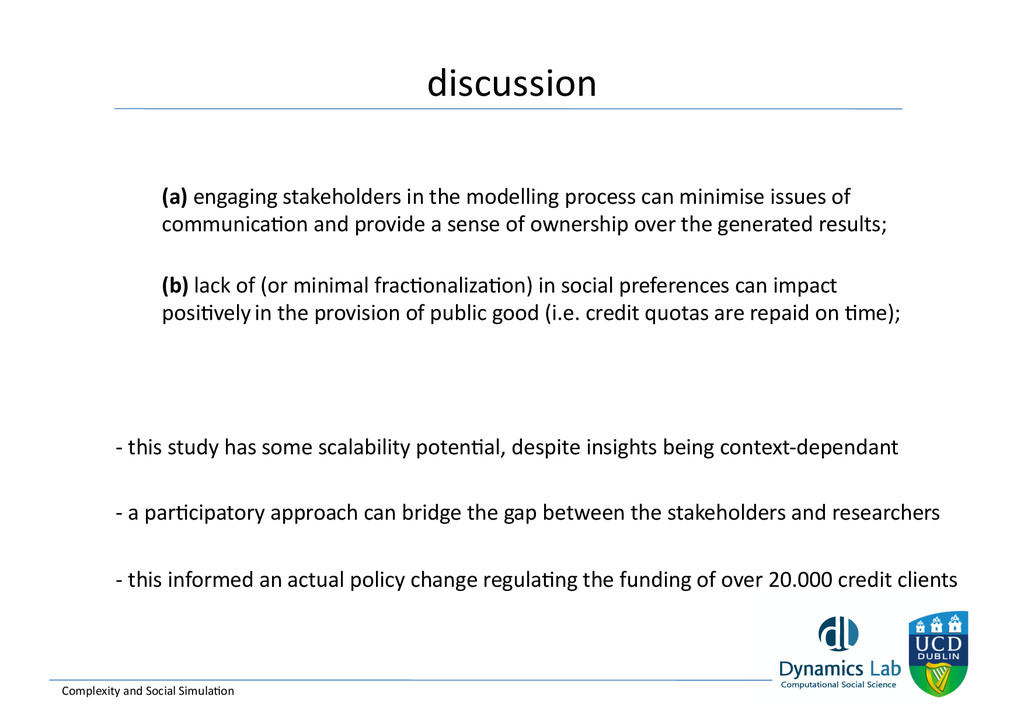 discussion  Complexity and Social S...