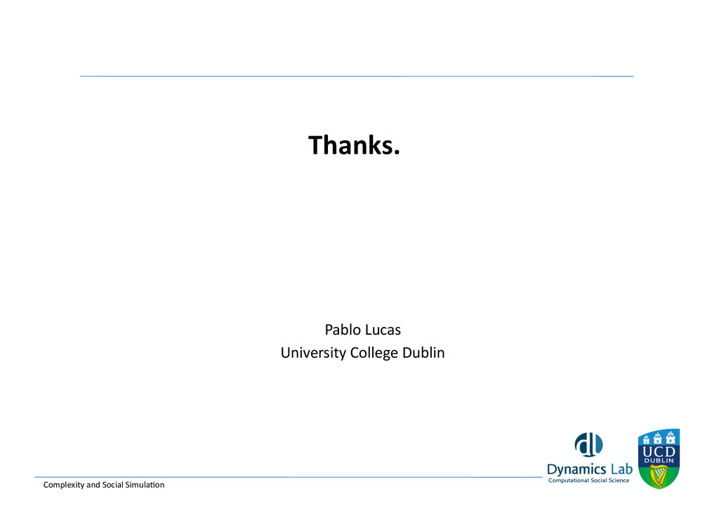 Thanks.  Pablo Lucas  University Co...