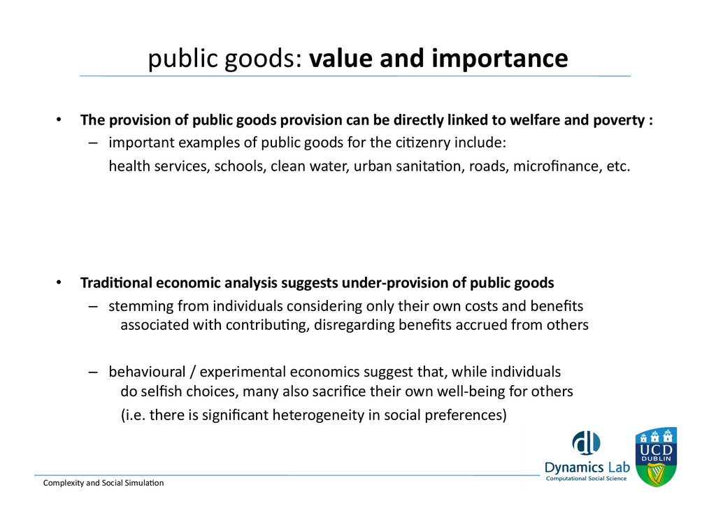 public goods: value and importance...