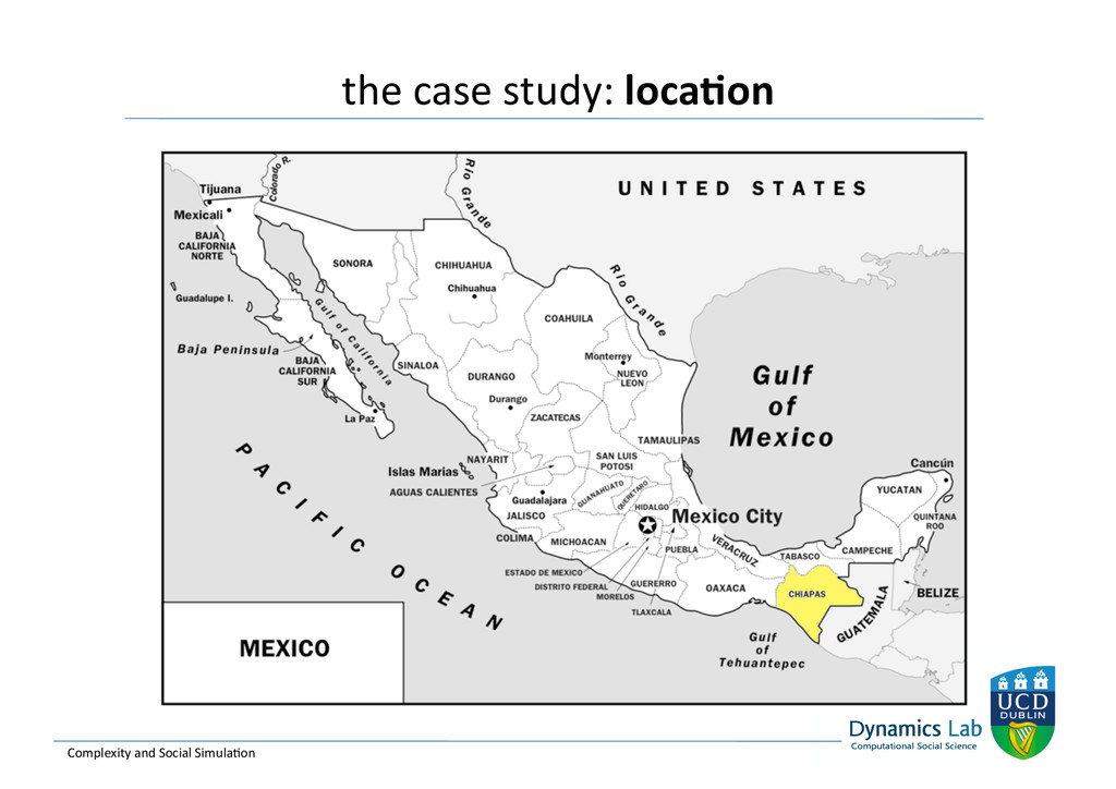 the case study: loca<on  Complexity...