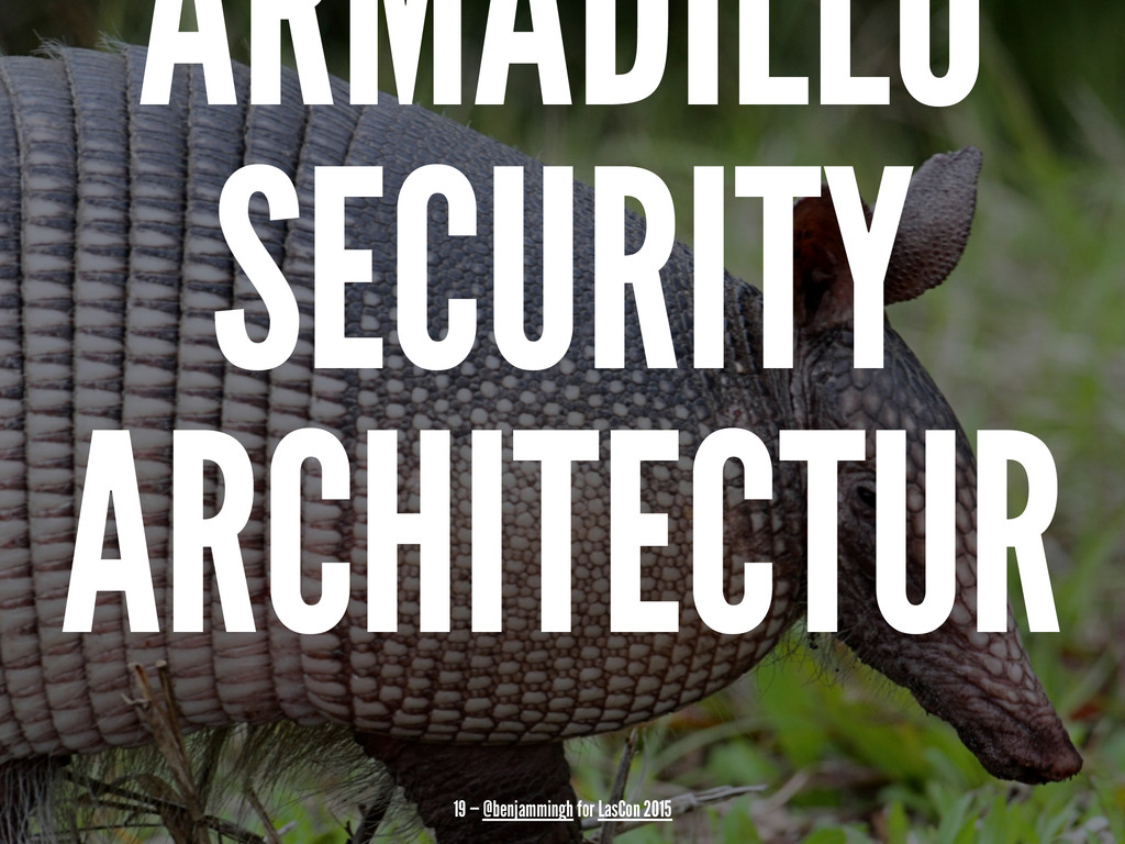 ARMADILLO SECURITY ARCHITECTUR 19 — @benjamming...