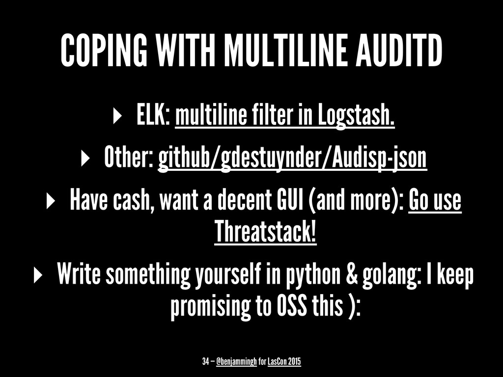 COPING WITH MULTILINE AUDITD ▸ ELK: multiline f...