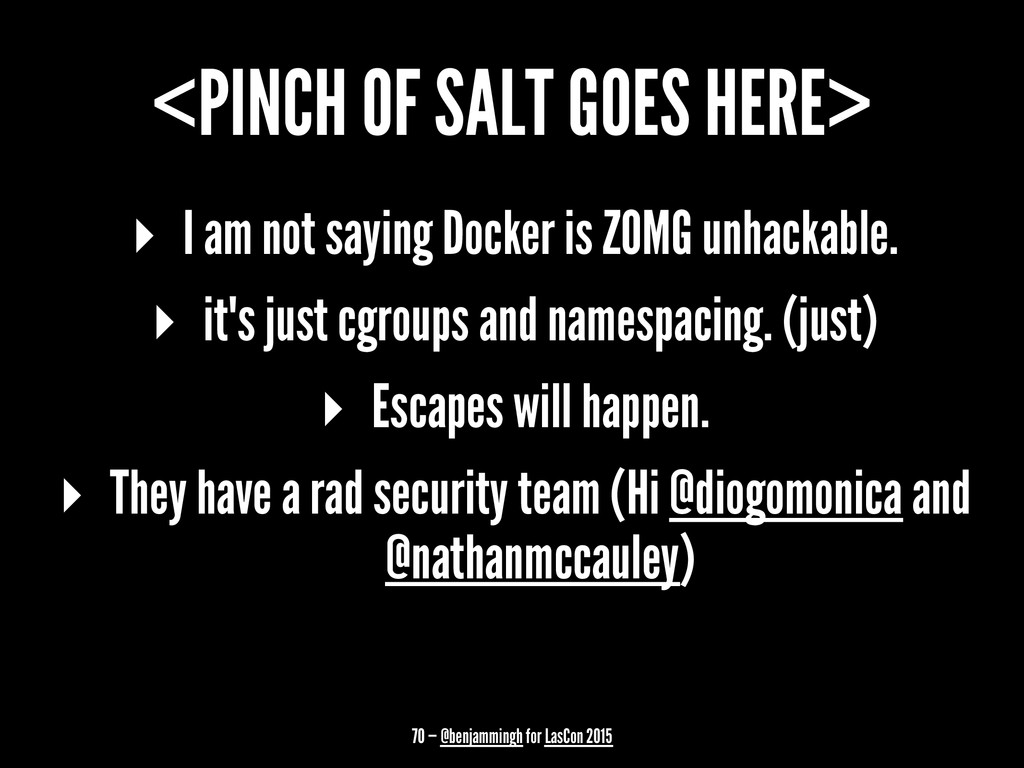 <PINCH OF SALT GOES HERE> ▸ I am not saying Doc...