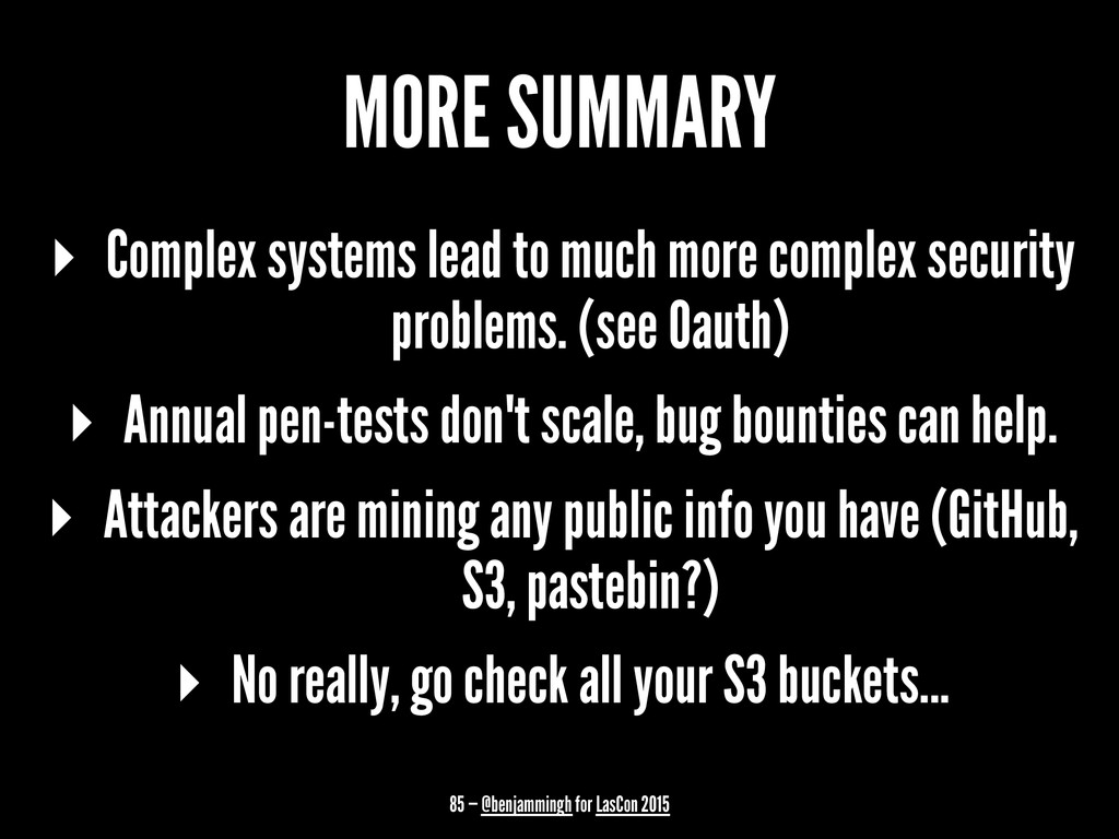 MORE SUMMARY ▸ Complex systems lead to much mor...