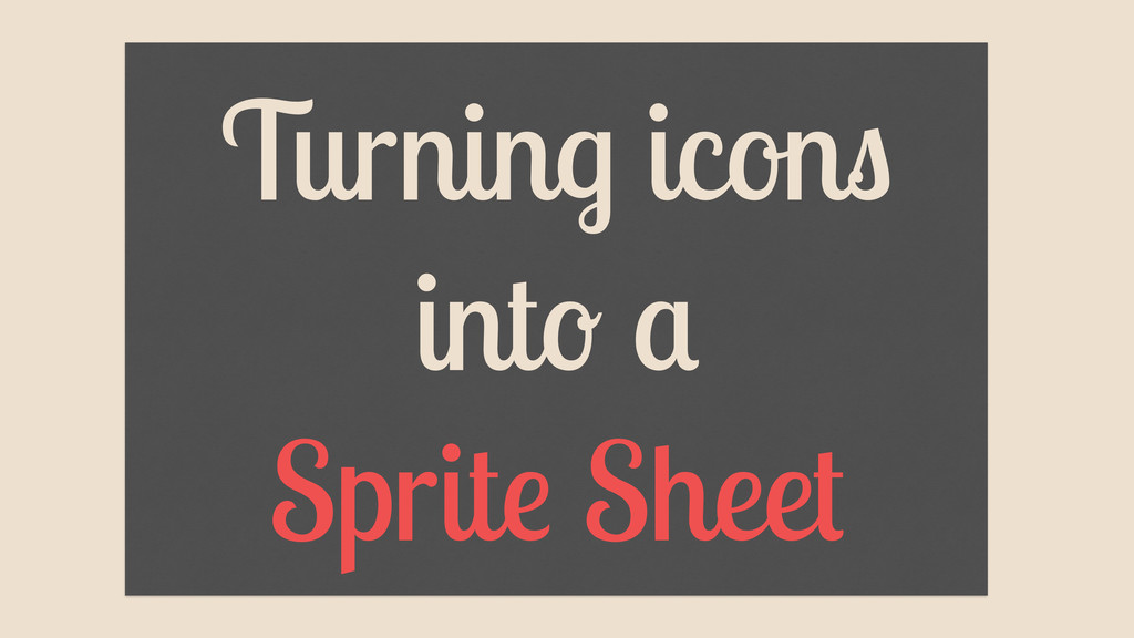 Turning icons into a Sprite Sheet