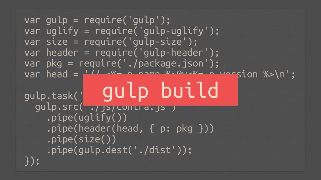 var gulp = require('gulp'); var uglify = requir...